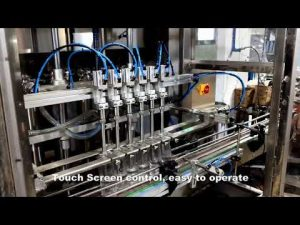 automatická 6-riadková automatická dávkovacia linka plniaceho prostriedku s obsahom tekutého pracieho chlóru