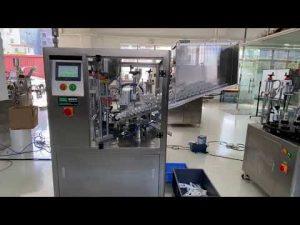 automatický plniaci stroj na plnenie plastových trubíc pre zubnú pastu na ruky