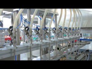 stroj na plnenie dezinfekčných tekutých rúk na mydlo s alkoholom