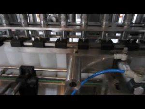 automatický stroj na plnenie tekutých pracích a dezinfekčných prostriedkov