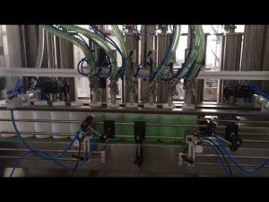 plniaci stroj na fľaše s tekutým mydlom