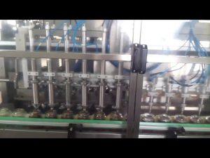 automat na plnenie sklenených medových jogurtov