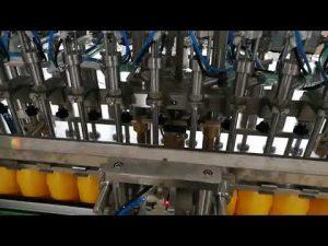 12 hlavový automatický plniaci stroj na fľaše pre kečupové oleje s omáčkou kozmetický