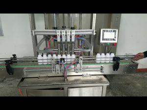 automatický stroj na plnenie viskóznych tekutých past na fľaše na tekuté mydlo, telové mlieko, šampón